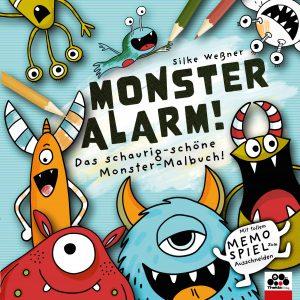 Monster-Alarm! Das schaurig-schöne Monster-Malbuch für Kinder ab 3 Jahren